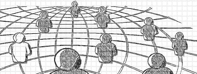 dibujo-lapiz-red-personas revolución digital
