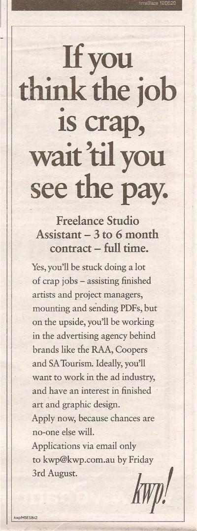 Job-creative-job-ad employer branding marketing