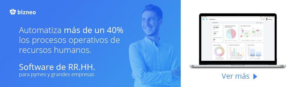 software de recursos humanos que automatiza más de un 40% los procesos operativos de recursos humanos.